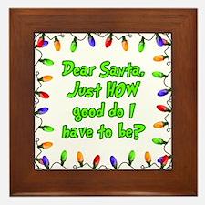 Letter to Santa Framed Tile
