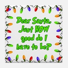 Letter to Santa Tile Coaster