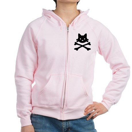 Kitty X-Bones by Rotem Gear Women's Zip Hoodie