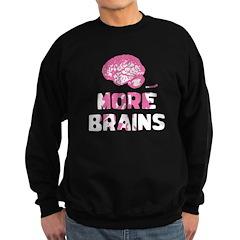 More Brains Zombie Sweatshirt (dark)