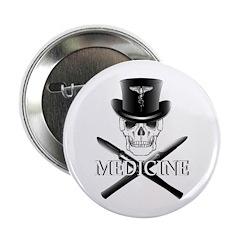 "Medicine Skull 2.25"" Button (100 pack)"