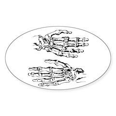 Hands Oval Sticker (10 pk)