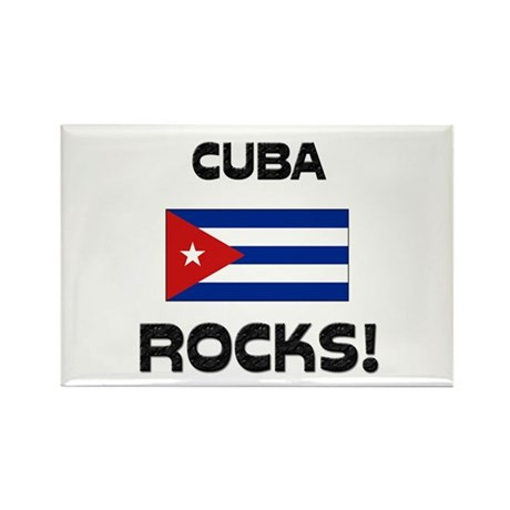 Cuba Rocks! Rectangle Magnet (10 pack)