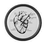 Heart Full Large Wall Clock
