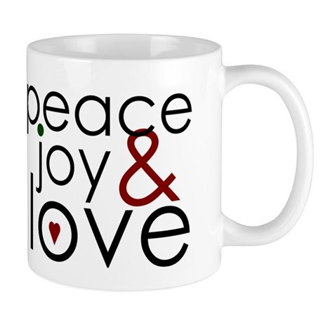 Peace Joy and Love Mug