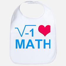 I Love Math T Shirt Baby Bib