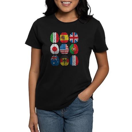 Brain Flags Women's Dark T-Shirt