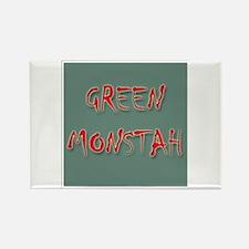 Green Monstah Rectangle Magnet
