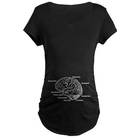 Brain Section Maternity Dark T-Shirt