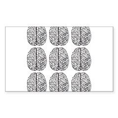 Brain 3x3 Rectangle Decal