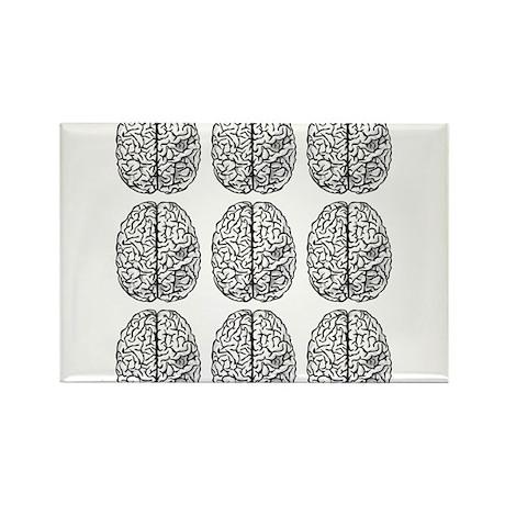 Brain 3x3 Rectangle Magnet (100 pack)