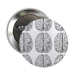 "Brain 3x3 2.25"" Button (100 pack)"