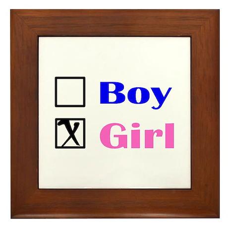 Girl Framed Tile