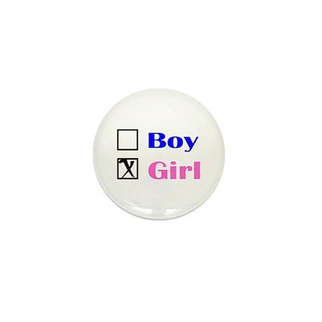 Girl Mini Button (10 pack)