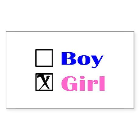 Girl Rectangle Sticker