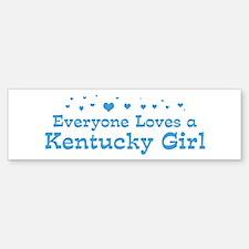 Loves Kentucky Girl Bumper Car Car Sticker