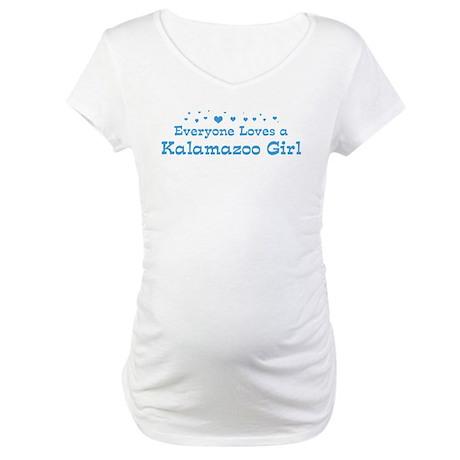 Loves Kalamazoo Girl Maternity T-Shirt