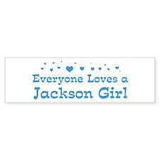 Loves Jackson Girl Bumper Bumper Sticker