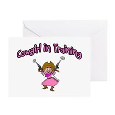Cowgirl In Training Greeting Cards (Pk of 10)