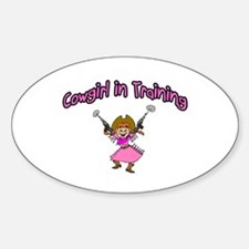 Cowgirl In Training Oval Decal