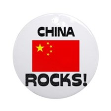 China Rocks! Ornament (Round)