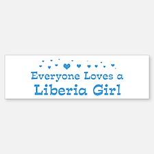 Loves Liberia Girl Bumper Bumper Bumper Sticker