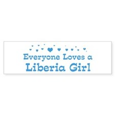 Loves Liberia Girl Bumper Sticker (10 pk)