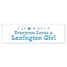Loves Lexington Girl Bumper Bumper Sticker