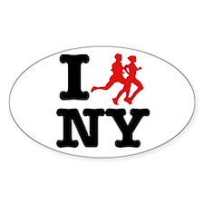 I run New York Oval Decal