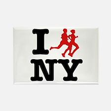 I run New York Rectangle Magnet