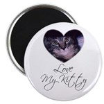 """LOVE MY KITTY 2.25"""" Magnet (100 pack)"""
