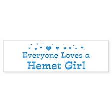 Loves Hemet Girl Bumper Bumper Sticker