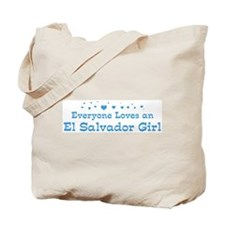 Loves El Salvador Girl Tote Bag