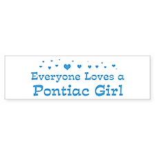 Loves Pontiac Girl Bumper Bumper Sticker