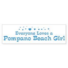 Loves Pompano Beach Girl Bumper Bumper Sticker