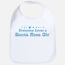Loves Santa Rosa Girl Bib