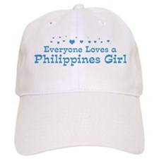 Loves Philippines Girl Baseball Cap