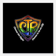 "CTR Rainbow Ally Square Car Magnet 3"" x 3"""