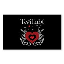 Heart Twilight Rectangle Decal