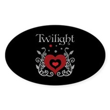 Heart Twilight Oval Decal