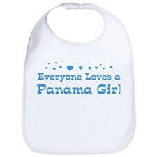 Loves Panama Girl Bib