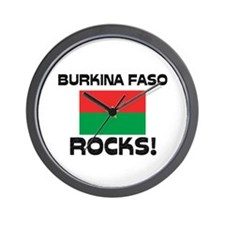 Burkina Faso Rocks! Wall Clock