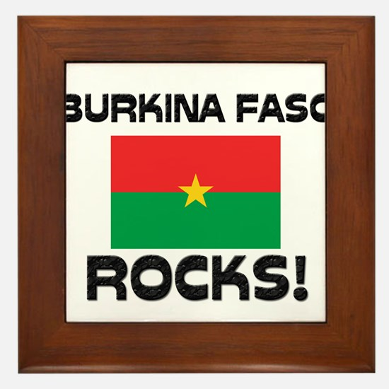 Burkina Faso Rocks! Framed Tile