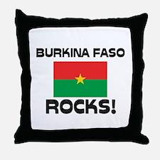 Burkina Faso Rocks! Throw Pillow