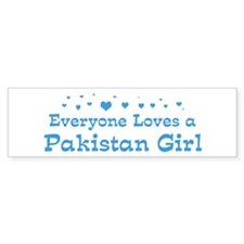 Loves Pakistan Girl Bumper Bumper Sticker