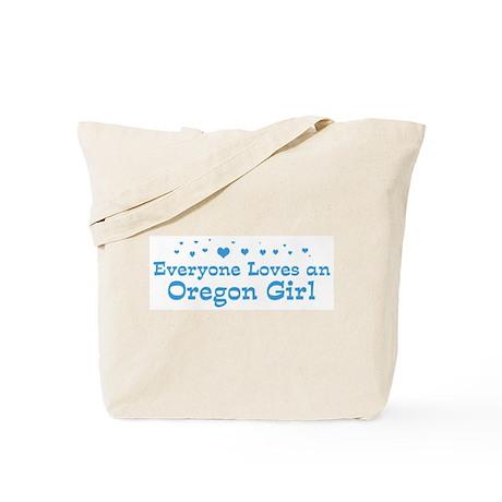 Loves Oregon Girl Tote Bag