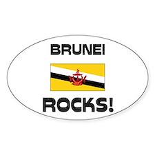 Brunei Rocks! Oval Decal