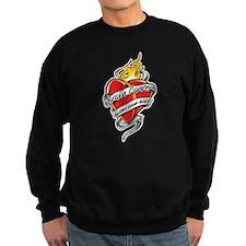 Brain Cancer Tattoo Heart Sweatshirt
