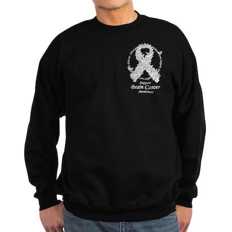 Brain Cancer Butterfly Ribbon Sweatshirt (dark)