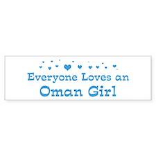 Loves Oman Girl Bumper Bumper Sticker